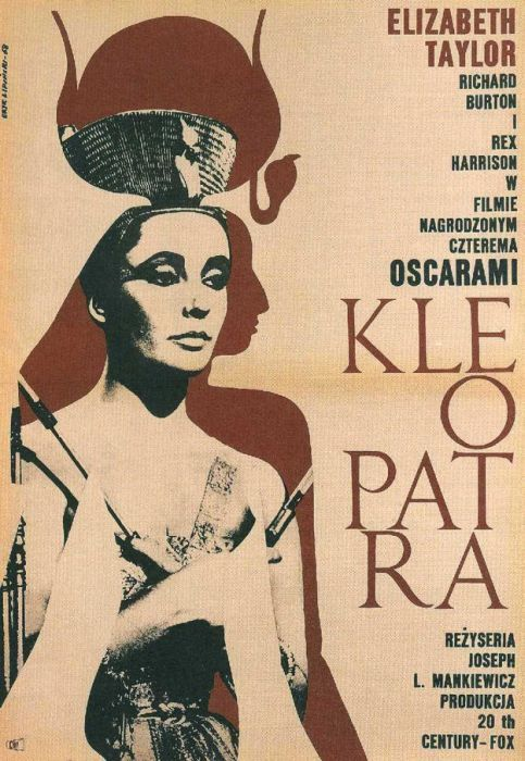 Cleopatra Beautiful Polish film posters for banned American films