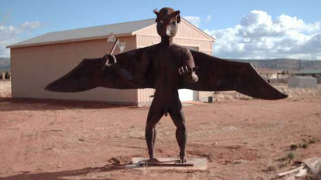 David Smith gargoyle Man ordered to cover up his massive anatomically correct gargoyle