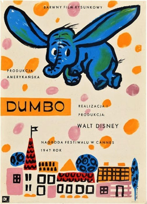 Dumbo Beautiful Polish film posters for banned American films