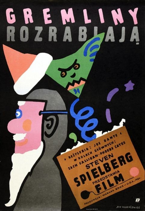 Gremlins Beautiful Polish film posters for banned American films