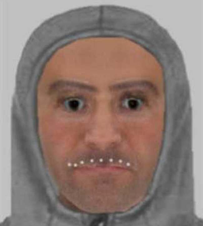 Harlow robbery E fit Police release this unusual e fit of man wanted for Essex robbery