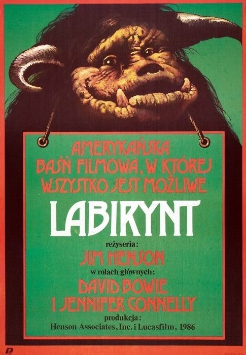 Labyrinth Beautiful Polish film posters for banned American films