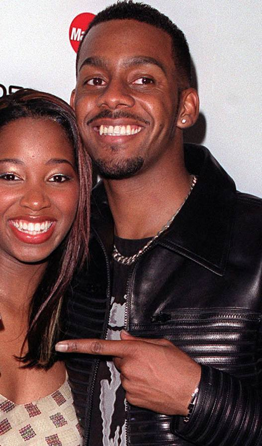 R'n'B artist Jamelia, who won the MTV Best Video award with MTV presenter Richard Blackwood at the 5th MOBO (Music of Black Origin) Awards, at the Alexandra Palace in London.