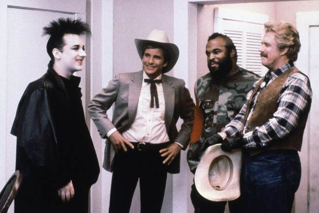 PA 9273970 Photo: June 17, 1986   Boy George appears in an episode of the A Team