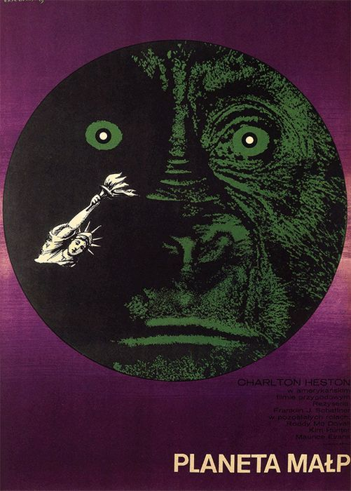 Planet of the Apes Beautiful Polish film posters for banned American films