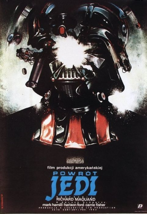 Return of the Jedi Beautiful Polish film posters for banned American films