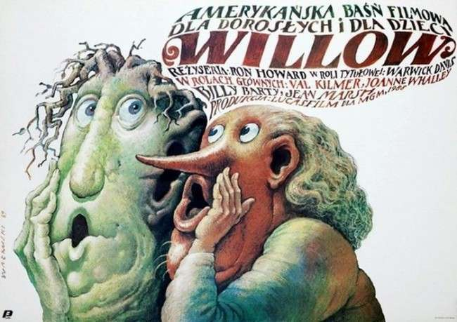 Willow Beautiful Polish film posters for banned American films