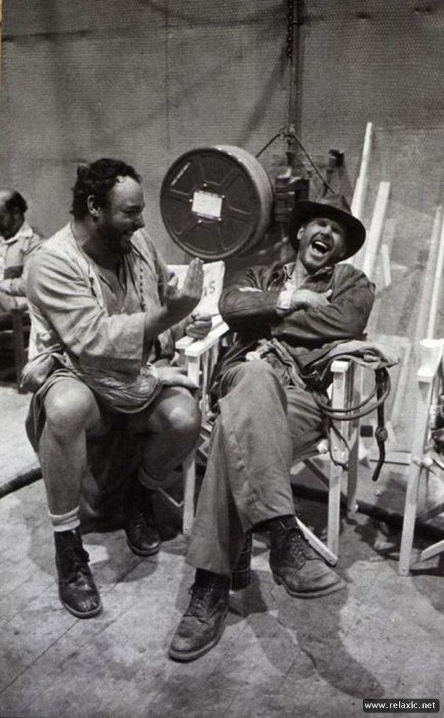actors laughing between takes 10