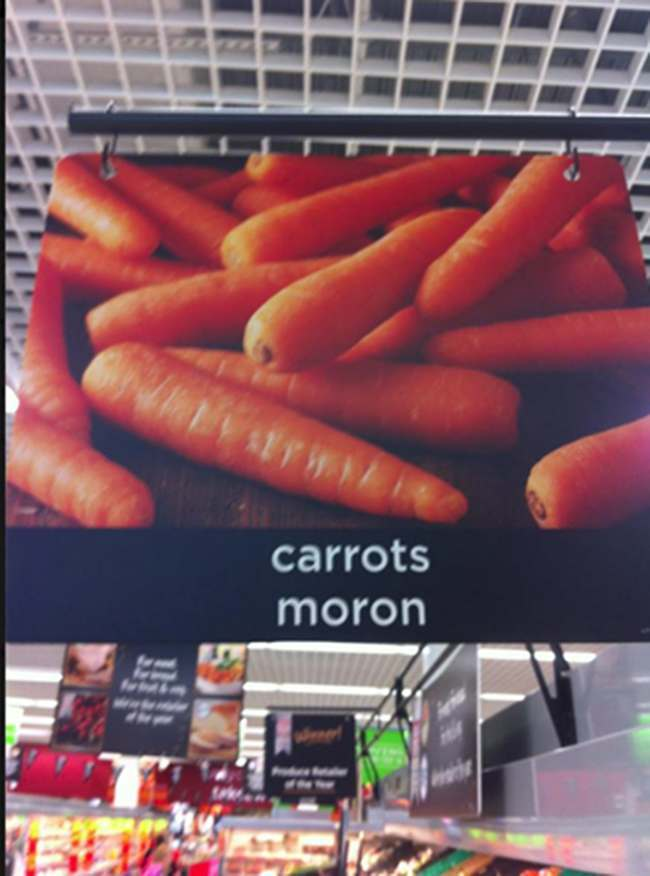 carrots moron asda Is Asda selling carrots to Welsh Morons?