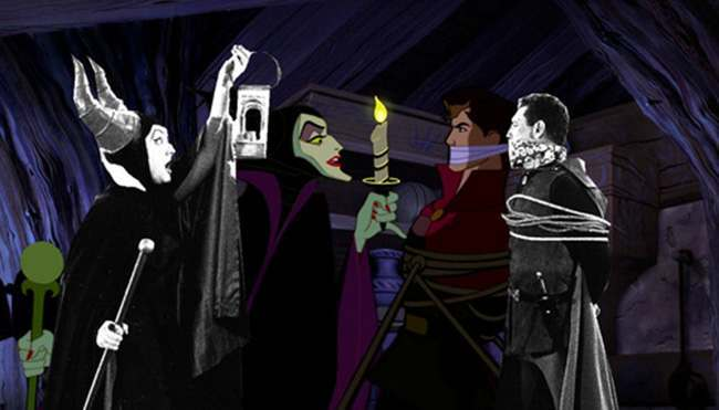 disney cartoons 6 Disney Rotoscopes: animated film stars superimposed with their actors