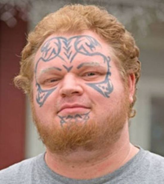 face tats 13 Face tattoos   the big collection of regretful ink