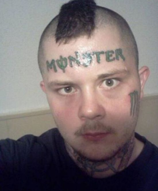 face tats 16 Face tattoos   the big collection of regretful ink