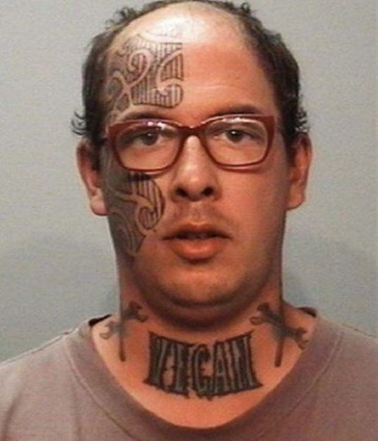 face tats 19 Face tattoos   the big collection of regretful ink