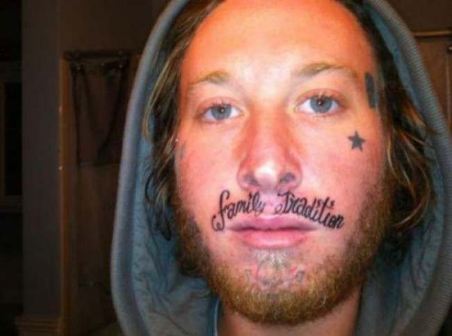 face tats 20 Face tattoos   the big collection of regretful ink