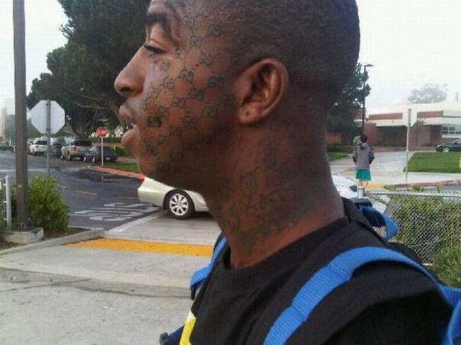 face tats 21 Face tattoos   the big collection of regretful ink