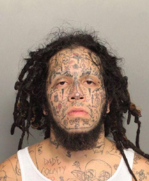 face tats 27 Face tattoos   the big collection of regretful ink