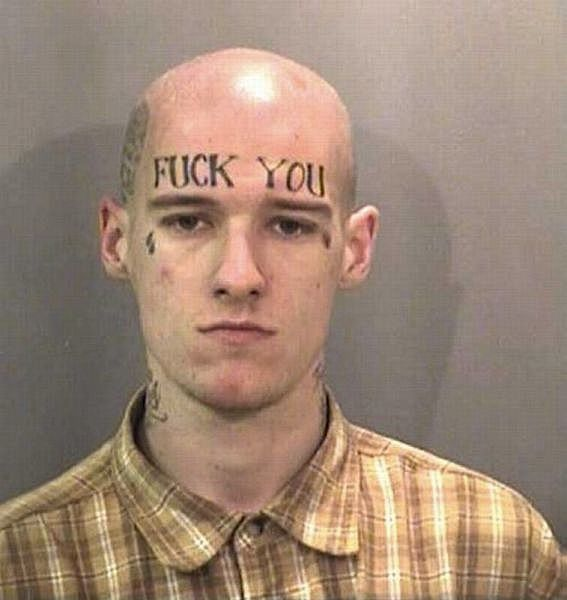 face tats 4 Face tattoos   the big collection of regretful ink
