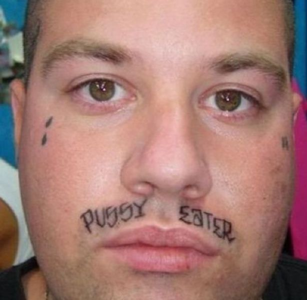 face tats 7 Face tattoos   the big collection of regretful ink