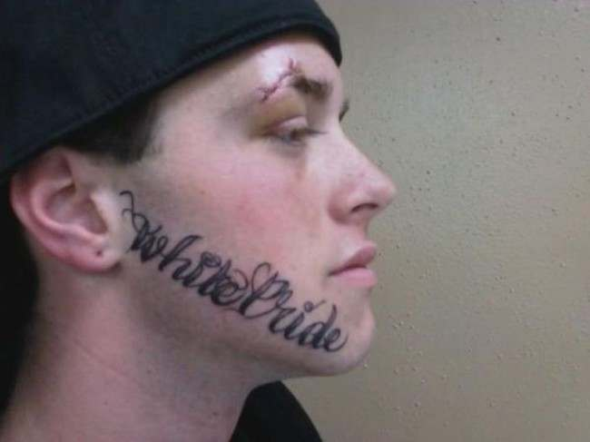 face tats Face tattoos   the big collection of regretful ink