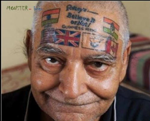 face tattoos 11 Face tattoos   the big collection of regretful ink
