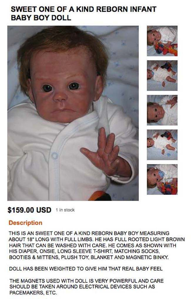 infant The 20 worst and most worrying dolls for sale on Etsy