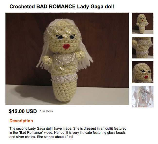 lady gaga The 20 worst and most worrying dolls for sale on Etsy