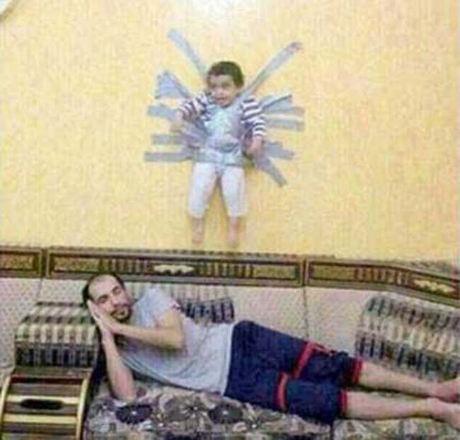 other parents duct tape Saudi Arabia human rights jokers hunt for people who duct taped a child to the wall