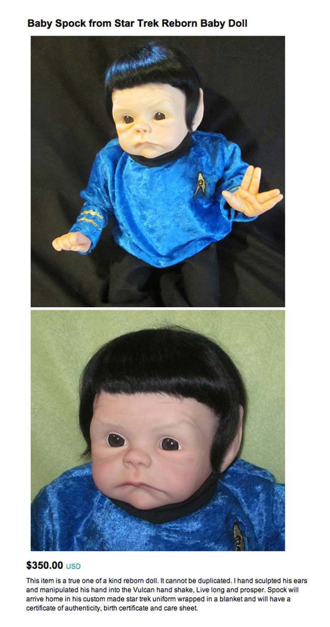 spock doll The 20 worst and most worrying dolls for sale on Etsy