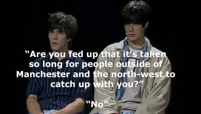 stone roses 1 In 1989 The Stone Roses Ian Brown and John Squire were interviewed by Music Box   it was brilliantly awful
