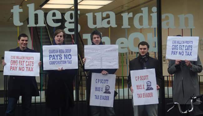 tax protest the guardian1 About those tax dodging hypocrites at The Guardian