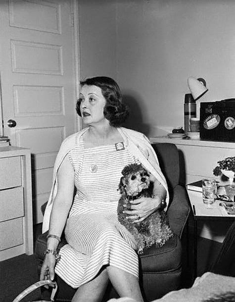 Bette Davis and Tinkerbelle