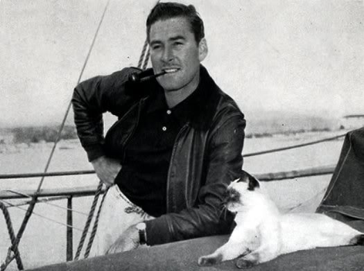 Errol Flynn and Bes Mudi aboard the Zaca.