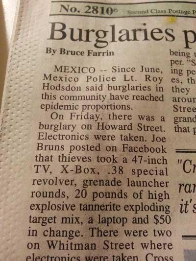 guns stolen