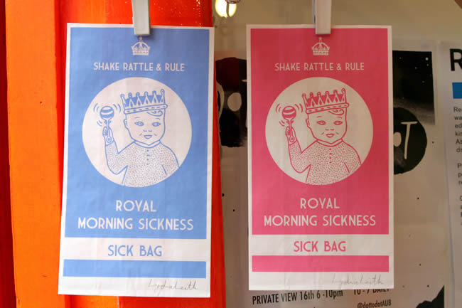 PA 17076942 Royal Baby Tat Watch: The Sick Bag