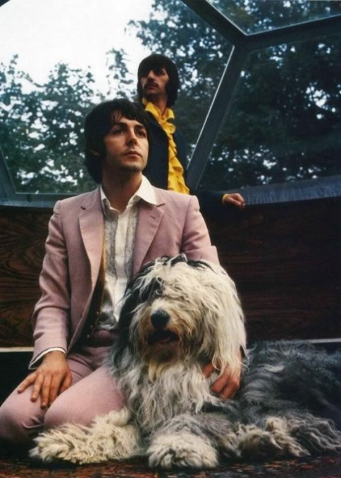 Paul McCArtney with dog