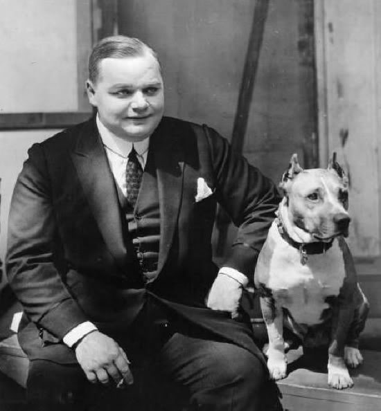 Roscoe Arbuckle and Luke the Dog