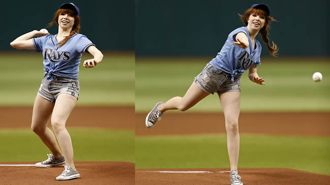 carly rae pitch baseball