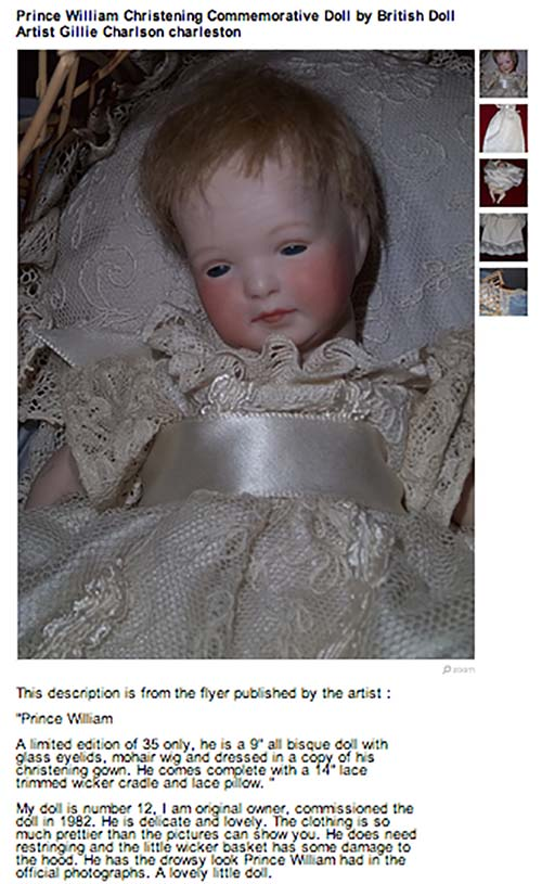 christinening doll