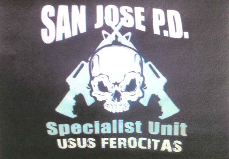 As sported by San Jose, California PD's tactical unit.