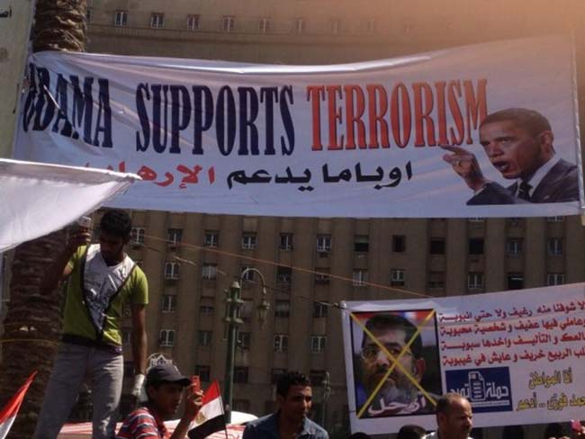 egypt 1 Egypt deposes the Muslim Brotherhood: the best Anti Obama banners