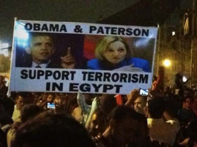 egypt 2 Egypt deposes the Muslim Brotherhood: the best Anti Obama banners