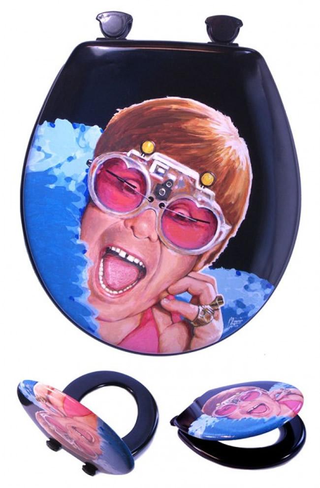 Elton John toilet seat