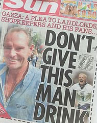 gazza drink Paul Gascoigne heads to Liverpool to die in peace