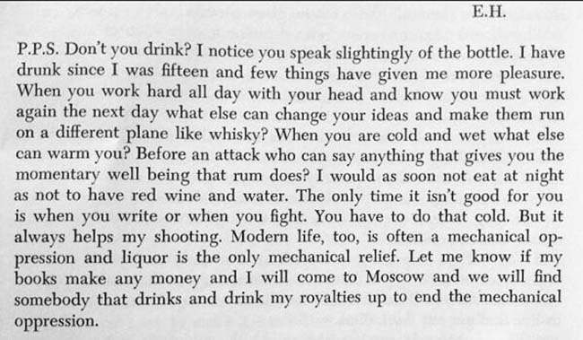 hemingway bottle In 1935 Ernest Hemingway wrote this letter in praise of the bottle