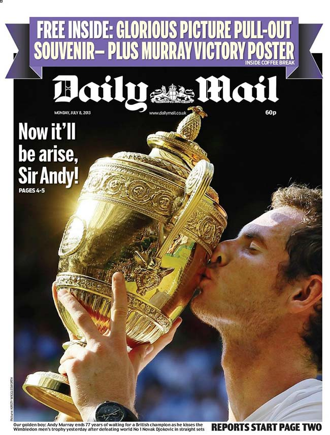 Andy Murray newspapers