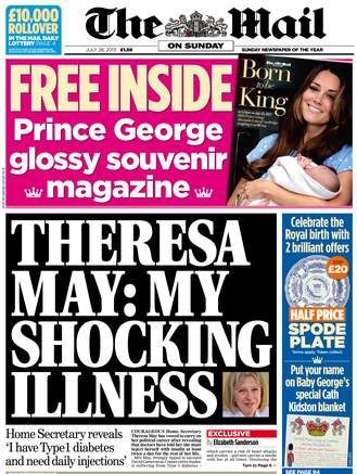 mailonsunday 1 329x437 Theresa May has diabetes   the Mail says thats shocking
