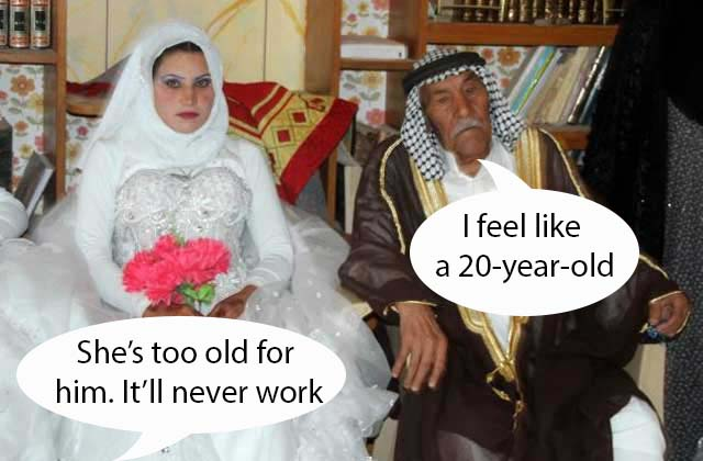 old man marries young woman
