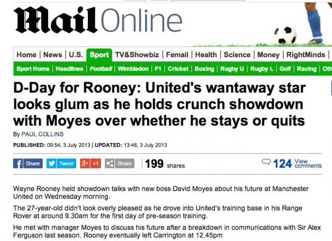 moyes rooney talks