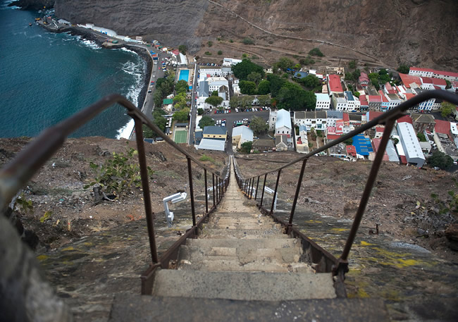 Is this a genuine Stairway To Heaven? Located in the picturesque island of St. Helena, the aptly name Jacob's Ladder has an impressive 699 steps and is officially the world's longest straight staircase. Built in 1829, some of the sections of the staircase even lack railings. Not for the faint, nor weak, of heart.