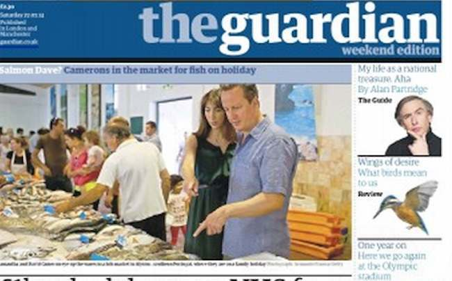 guardian bullshit How newspapers work: David Camerons family holiday in The Guardian